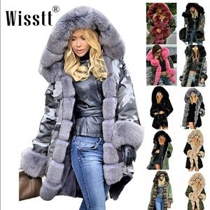 COMIMG SOON! Fur Hooded Camo Parka/Coat /Jacket